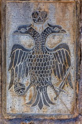 Double-headed eagle, the most recognizable symbol of Orthodoxy. The official state symbol of the late Byzantine Empire, symbolising the unity between the Byzantine Orthodox Church and State.