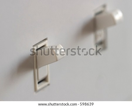 Double Light Switch, macro with shallow dof.