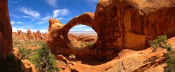 Double O Arch, Arches National Park, Utah USA