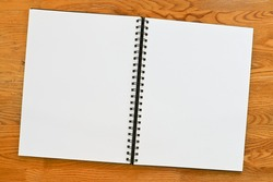 Double page spread blank ring binder with copy space. Great surround .