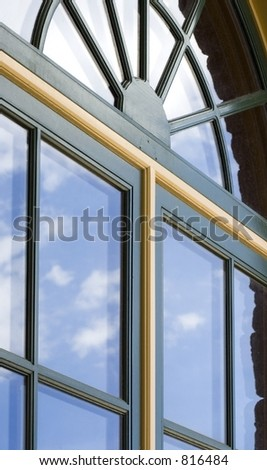 Double-paned Windows with Cloud Reflections