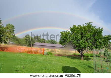 Double Rainbow as storm passes