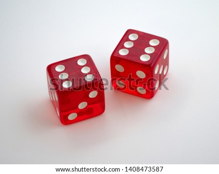 Double six dice macro closeup - Image #1408473587