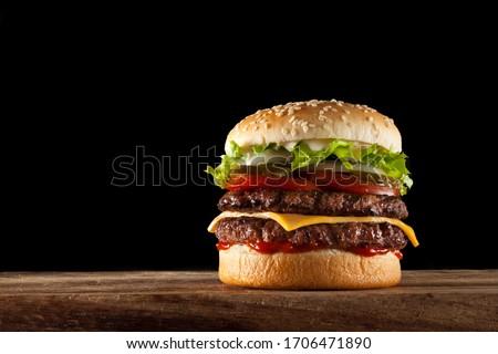 Double Stack Steak Beef Burger Stock photo ©