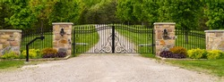 Double wrought-iron gate
