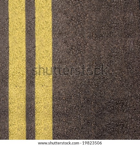 Double yellow line on asphalt texture #19823506