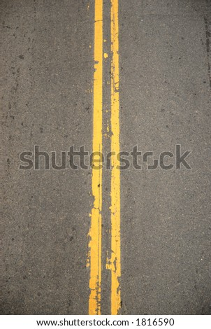 Double Yellow Lines from Above