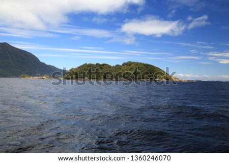 Doubtful Sound in Fiordland, in the far south west of New Zealand #1360246070