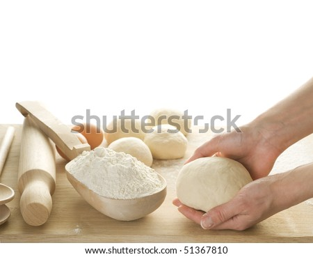 Dough for Baking isolated on white
