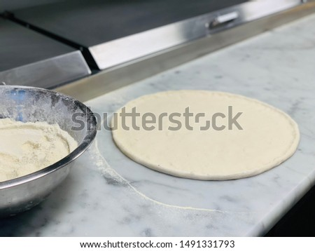 Dough with a perfect mix for a perfect pizza