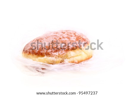 Doughnut sugar homemade isolated on white background