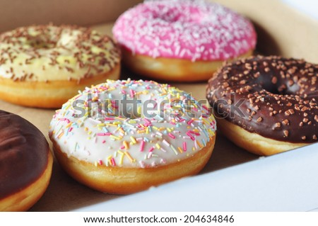 Doughnuts in a box