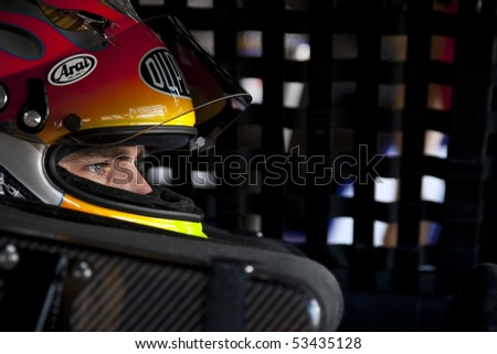 DOVER, DE - May 15:  Jeff Gordon gets ready to practice at the Dover International Speedway for the Autism Speaks 400 presented by Hershey's Milk & Milkshakes on May 15, 2010 in Dover, DE