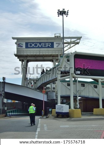 DOVER, GREAT BRITAIN  - CIRCA AUGUST 2007: The international border passage between Great Britain and France on August 2007 in Dover, Great Britain.