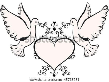 Doves with heart.