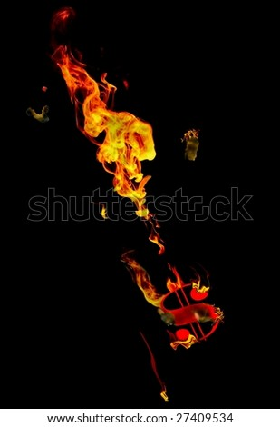 Down in Flames / see more economy-related and fire images in this portfolio