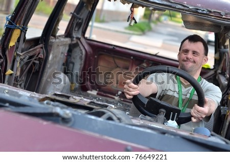 down syndrome man in wreck
