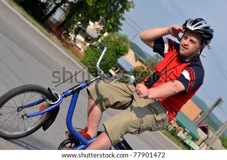 down syndrome man on bike