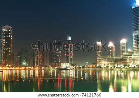 Down town of Dubai city - stock photo