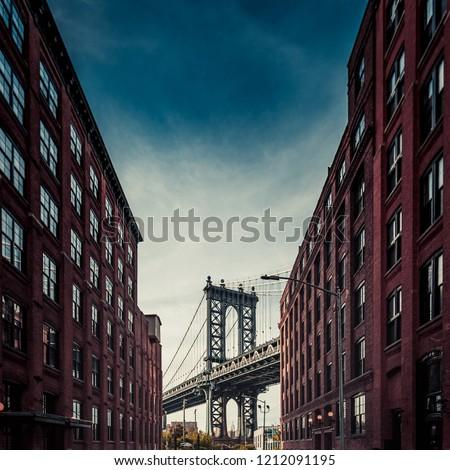 Down Under Manhattan Bridge Overpass #1212091195
