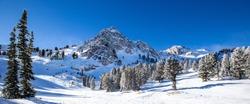 downhill skiing in Utah, USA