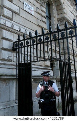Downing Street 10. Home of the minister president of the United Kingdom. One of the most secured places in the world.