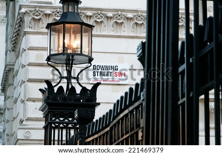 Shutterstock Downing Street's sign in Westminster. Downing St. has housed government leaders for over three hundred years.