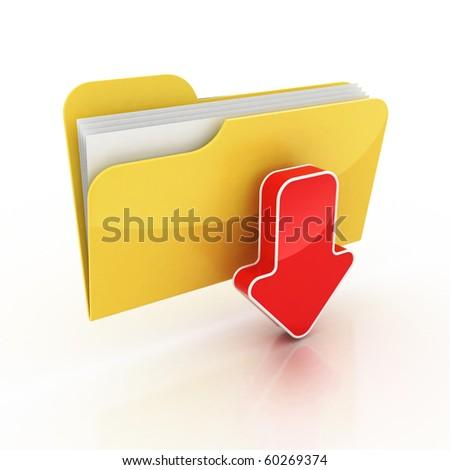 download folder icon 3d illustration