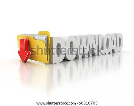 download folder icon 3d illustration