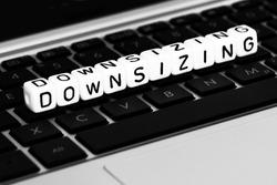 Downsizing block letter on keyboard