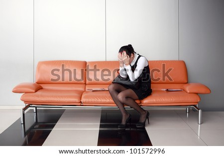 Downsizing, sad business woman