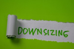 Downsizing Text written in torn paper