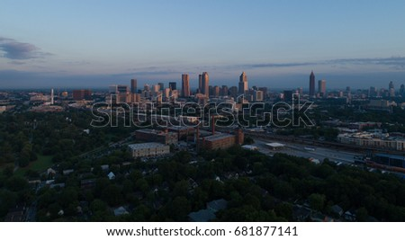Downtown Atlanta from a Distance  (Aerial View)