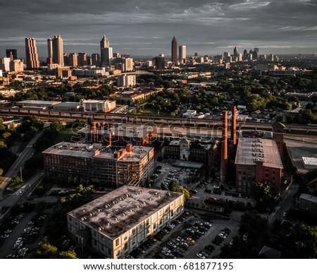 Downtown Atlanta,  Transportation  (Aerial View)