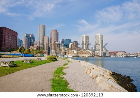 Downtown Boston and Waterfront - stock photo