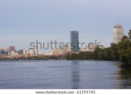 Downtown Boston from Charles River