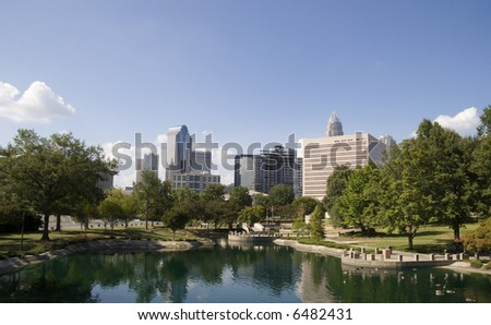 Downtown Charlotte, NC from Marshall Park