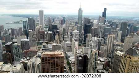 Downtown Chicago Aerial view, Illinois