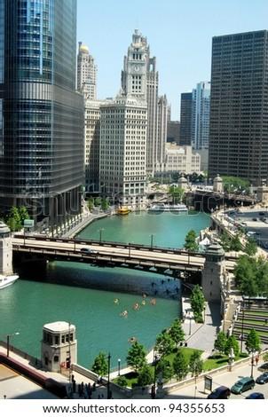 Downtown Chicago, Illinois USA - stock photo
