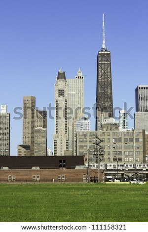 Downtown Chicago in the afternoon