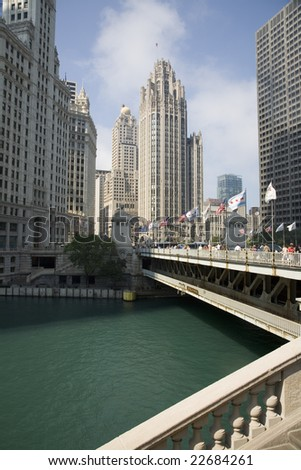 the chicago tribune logo. Chicago Tribune) in the