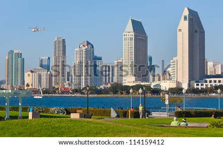 Downtown City of San Diego, California Cityscape