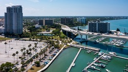 Downtown Clearwater Florida Yaught Club Basin
