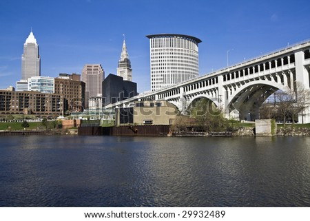 Downtown Cleveland - seen during spring
