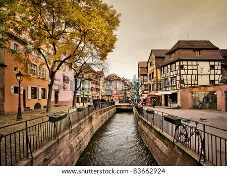"Downtown Colmar, France. ""Le Petit Venice"" (Little Venice)"