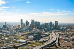 Downtown Dallas Aerial Skyline - Photos taken via Helicopter in Dallas, Texas.