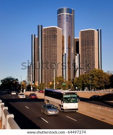 Downtown Detroit Fraffic
