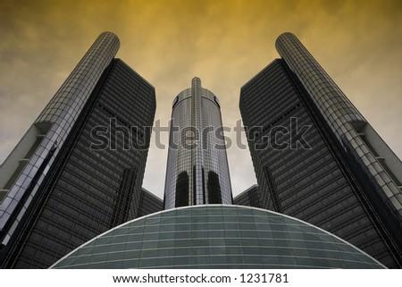 Downtown Detroit GM Hedquarter, Michigan