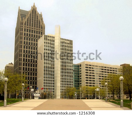 Downtown Detroit, Michigan USA