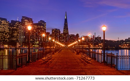 Downtown from Pier 7 in San Francisco, California